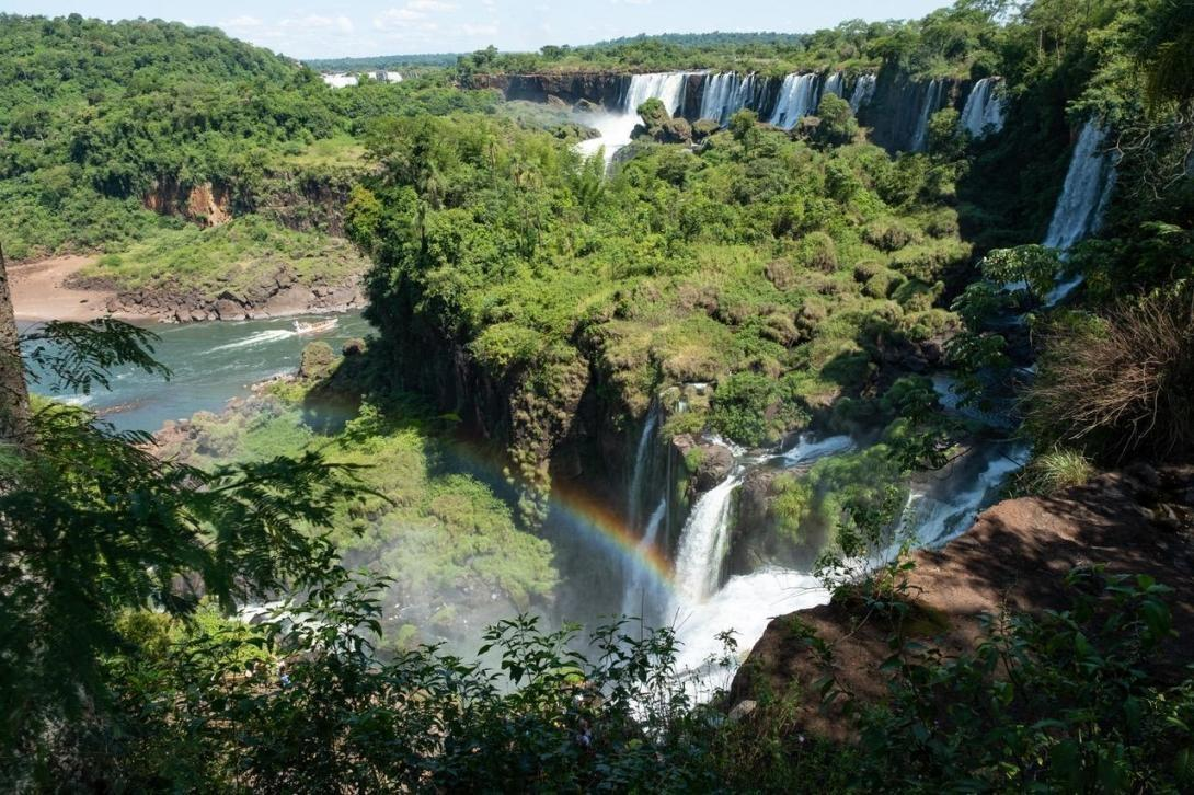 Argentina landscape varies with beautiful jungle and waterfalls in the north.